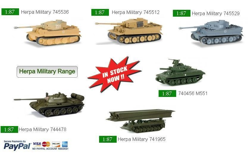 Herpa Military Models available from stock