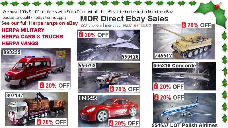 Christmas Discounts on 100s of Selected Herpa Models