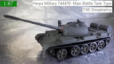 Herpa Military 744478  Main Battle Tank Type T-55 Sowjetarmy