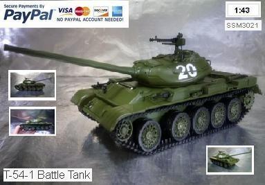 Herpa Military 83SSM3021 SSM: Tank T-54-1 Battle Tank