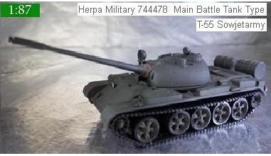 Herpa Military 744478  Main Battle Tank Type T-55 Sowjetarmy