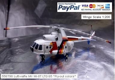 "556798 Luftwaffe Mil Mi-8T LTG 65 ""Fly-out colors"" - Scale 1:200"