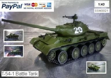 Herpa Military 83SSM3021 SSM: Tank T-54-1 Battle Tank